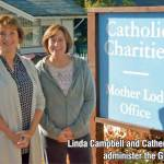 Linda Campbell and Catherine Driver administer the GRACE fund